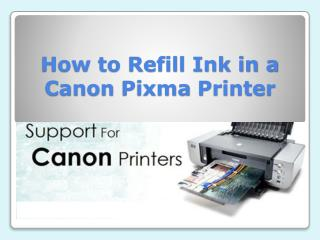 How to Refill Ink in a Canon Pixma Printer