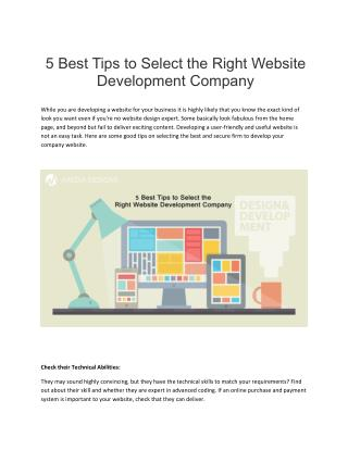 Tips to Select Right Website Development Company - iMedia Designs