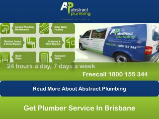 Get Plumber Service In Brisbane