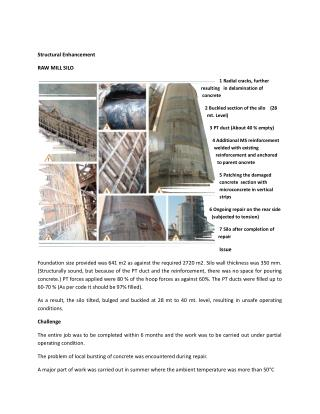 Structural Enhancement - RAW MILL SILO