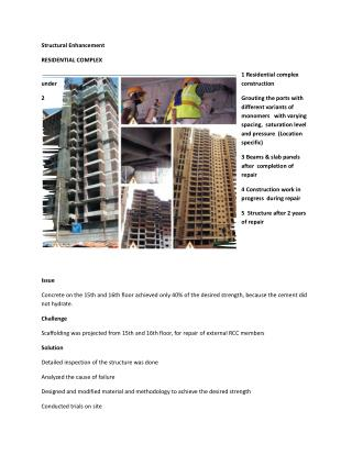 Structural Enhancement - RESIDENTIAL COMPLEX