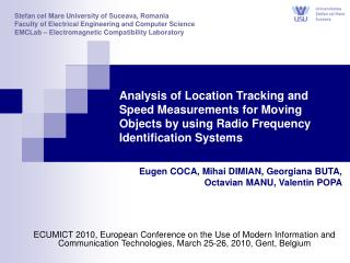 Analysis of Location Tracking and Speed Measurements for Moving Objects by using Radio Frequency Identification Systems