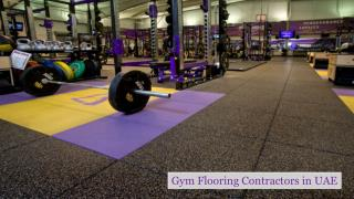 Gym Flooring Contractors in UAE