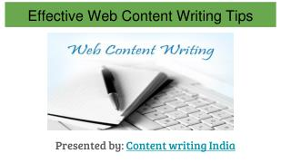 Effective  web content writng tips