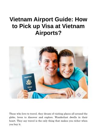 Vietnam Airport Guide: How to Pick up Visa at Vietnam Airports
