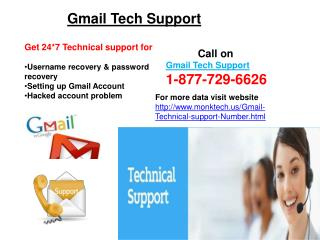 Dial 1-877-729-6626 Gmail Technical Support Number To Eradicate All Your Troubles!