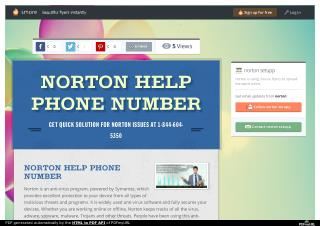 Norton help phone number