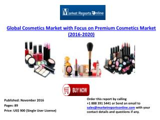 Cosmetics Market with Focus on Premium Cosmetics Market