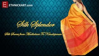 Silk splendor sarees by ETHNICKART