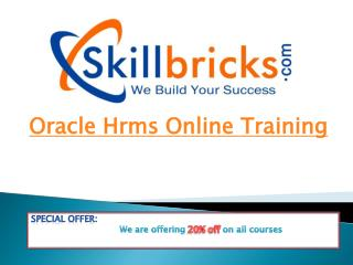 Oracle hrm Online Training course