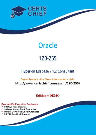 1Z0-255 Certification Practice Test