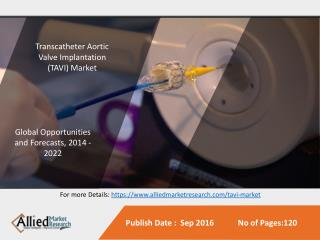 Transcatheter Aortic Valve Implantation/Replacement (TAVI/TAVR) Market Is Expected to Reach $5,962 Million, Globally, by