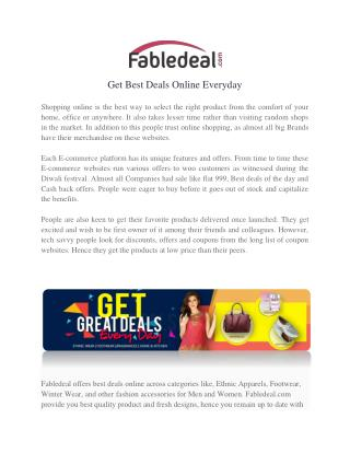 Best Deals Of The Day With Up to 80% Off  | Money Saving At Fabledeal