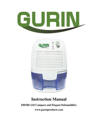 Gurin DHMD-210 Electric Compact Dehumidifier