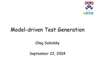 Model-driven Test Generation