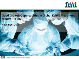 FMI Releases New Report on the Keloid Treatment Market 2016-2026