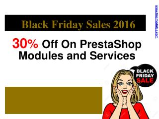 Black Friday Sales 2016 onPrestaShop Modules and Services