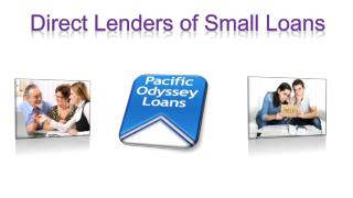 Direct lenders of small loans