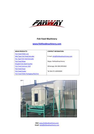 Fish Feed Cooler | Fish feed cooling machine