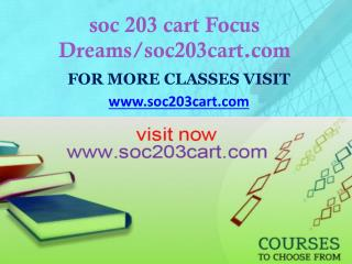soc 203 cart Focus Dreams/soc203cart.com