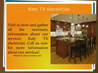 Katy TX electrician