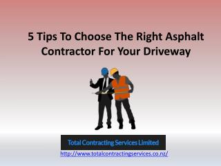 5 Tips To Choose The Right Asphalt Contractor
