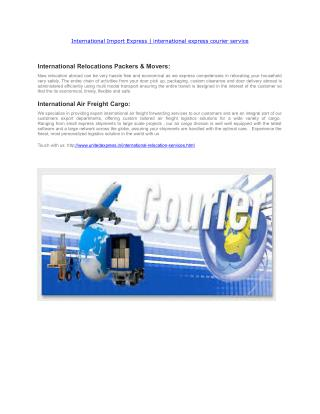 International Import Express | international express courier service