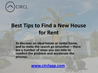 Best Tips to Find a New House for Rent - CIRCL