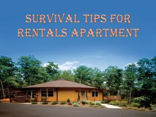 Survival Tips For Rentals Apartment