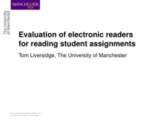 Using e-Book readers to mark student assignments presentation