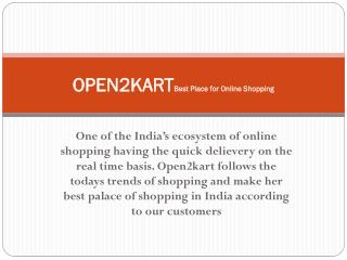 Open2kart Genuine Place for Online Shopping