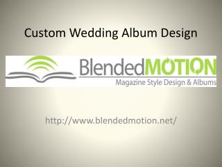 Custom Wedding Album Design