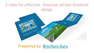Top 5 rules for effective financial advisor brochure design