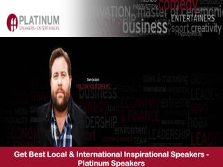 Get Best Local & International Inspirational Speakers - Platinum Speakers
