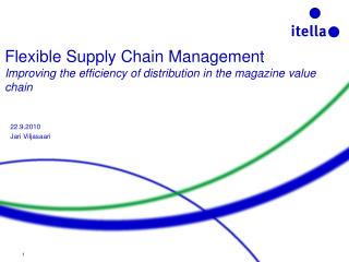 Flexible Supply Chain Management Improving the efficiency of ...