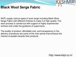 Black Wool Serge Fabric