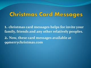 Merry Christmas Cards