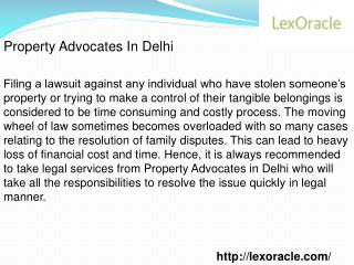 Property Advocates in Delhi
