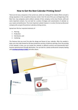 Calendar Printing in Dubai - Print Arabia
