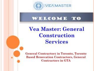 Vea Master: General Contracors in Toronto