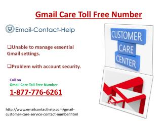 Hit Your Fingers @1-877-776-6261for Gmail Contact Number