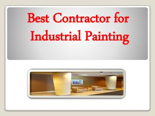 Best Contractor for Industrial Painting