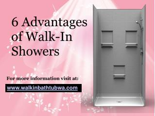6 Advantages of Walk-In Showers