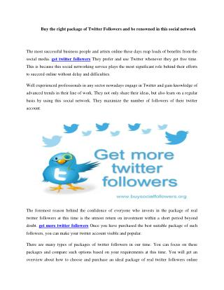 Business development through Twitter Followers