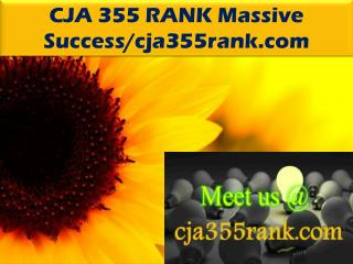 CJA 355 RANK Massive Success/cja355rank.com