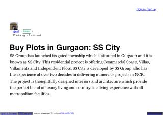 residential plots in gurgaon for sale