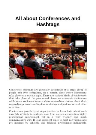 All about Conferences and Hashtags