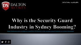 Why is the Security Guard Industry in Sydney Booming?