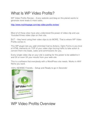 WP Video Profits free