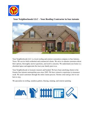 Roofing and Exterior Restoration Company in San Antonio